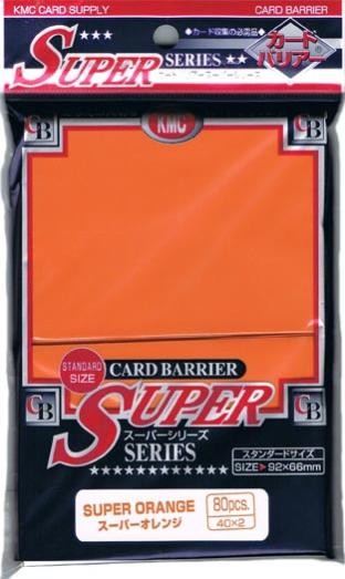 Japanese KMC Pack of 80 Sleeves in Super Orange