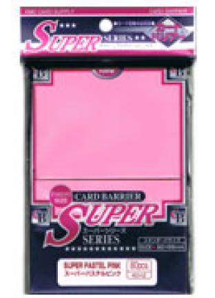 Japanese KMC Pack of 80 Standard Sleeves in Super Pastel Pink
