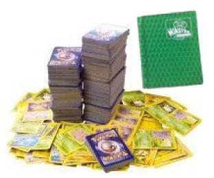 100 Assorted Pokemon Cards with Bonus Pocket Monster Binder