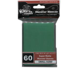 Monster Yugioh Sized Sleeves 60ct - Super Matte Green