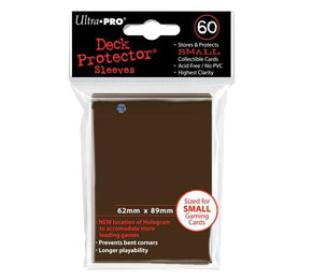 Ultra Pro - 60 ct Sleeves - Brown - Yugioh Sized