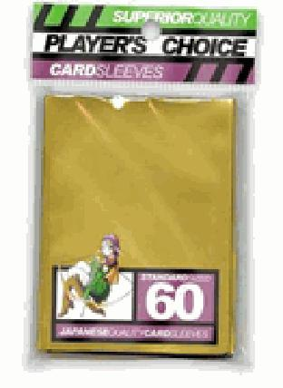 Player's Choice Yu-Gi-Oh Sleeves Pack of 60 in Gold