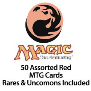 50 Assorted Red MTG Cards Rares & Uncommons Included