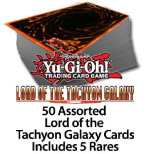 50 Assorted Lord of Tachyon Galaxy Cards Includes 5 Silver Letter Rares