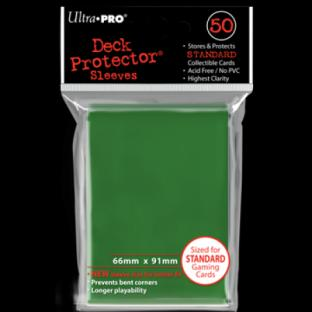 Ultra Pro Standard Size 50 Ct Sleeves Green