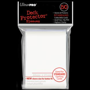 Ultra Pro Standard Size 50 Ct Sleeves White