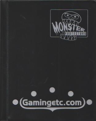 4-Pocket Monster Binder - Black with Gamingetc Logo