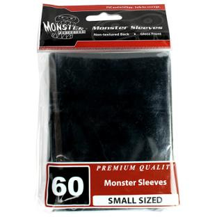 Monster Small Sized Sleeves 60ct - Black
