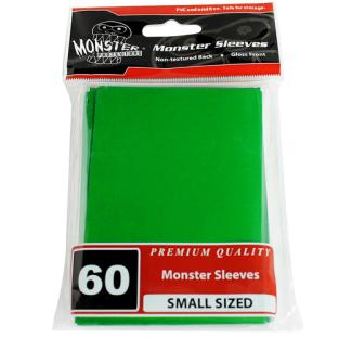 Monster Small Sized Sleeves 60ct - Green