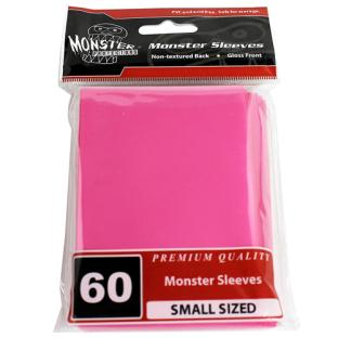 Monster Small Sized Sleeves 60ct - Pink