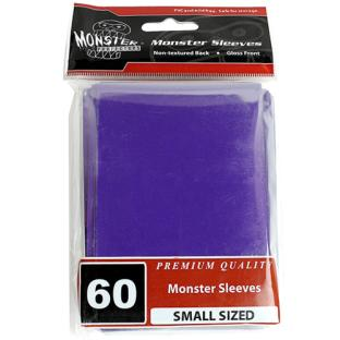 Monster Small Sized Sleeves 60ct - Purple
