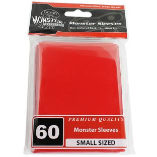 Monster Small Sized Sleeves 60ct - Red
