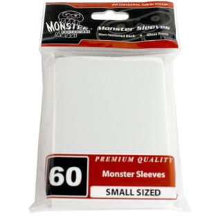 Monster Small Sized Sleeves 60ct - White