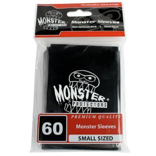 Monster Small Sized Sleeves 60ct - Monster Logo Black