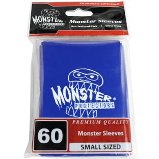 Monster Small Sized Sleeves 60ct - Monster Logo Blue