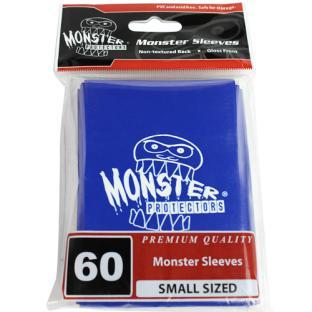 Monster Small Sized Sleeves 60ct - Monster Logo Blue