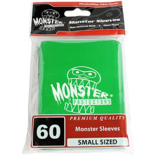 Monster Small Sized Sleeves 60ct - Monster Logo Green