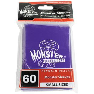 Monster Small Sized Sleeves 60ct - Monster Logo Purple