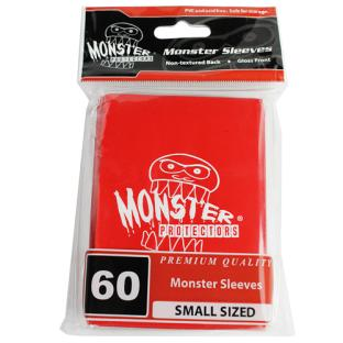 Monster Small Sized Sleeves 60ct - Monster Logo Red