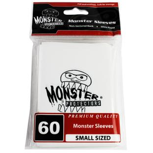 Monster Small Sized Sleeves 60ct - Monster Logo White