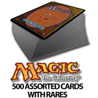 500 Assorted Magic the Gathering Cards with Rares