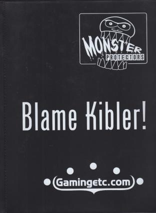 Monster Binder - Black with Blame Kibler Logo