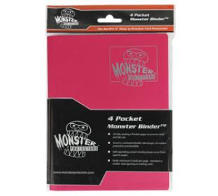 4-Pocket Monster Binder - Matte Pink