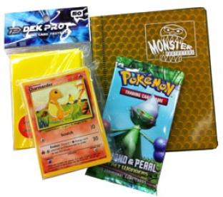 Pokemon Holiday Gift Pack ( 2-Pocket Binder, 1 Booster, 50 Cards, 50 Sleeves)