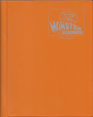 4-Pocket Monster Binder - Orange