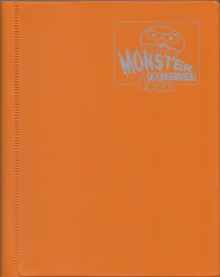 4-Pocket Monster Binder - Orange
