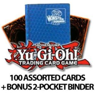 100 Assorted Cards With Bonus 2 Pocket Monster Binder