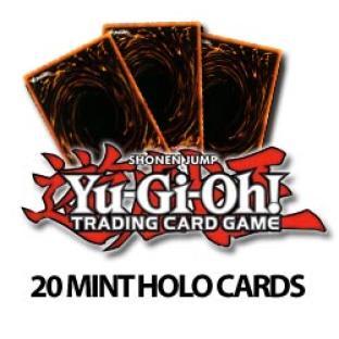 YuGiOh 20 Mint Holo Cards - 10 Rares, 6 Super, 3 Ultra Rare, 1 Ultimate