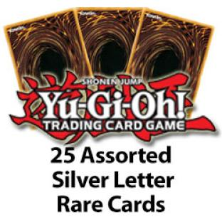 Yugioh 25 Assorted Silver Letter Rares