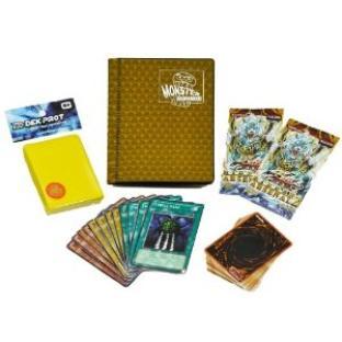 Yugioh Value Pack - 100 Cards, 50 Sleeves, 2 Packs, and 2-Pocket Monster Binder
