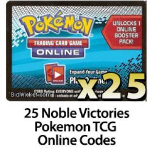 25 Pokemon TCG Online Codes - Noble Victories