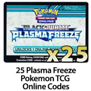 25 Pokemon TCG Online Codes - Plasma Freeze