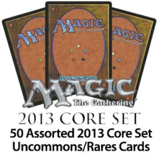 50 Assorted 2013 Core Set Uncommons/Rares Cards