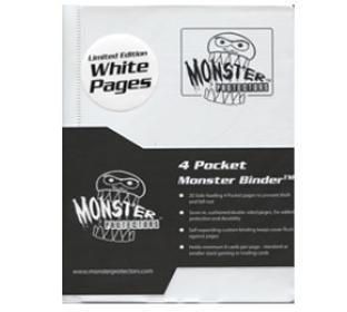 4 Pocket Monster Binder - White - With NEW White Pages