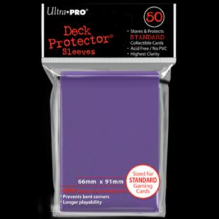 Ultra Pro Standard Size 50 Ct Sleeves Purple