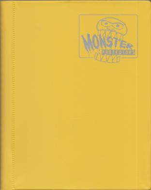 4-Pocket Monster Binder - Bright Yellow
