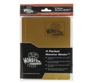 4-Pocket Monster Binder - Matte Gold