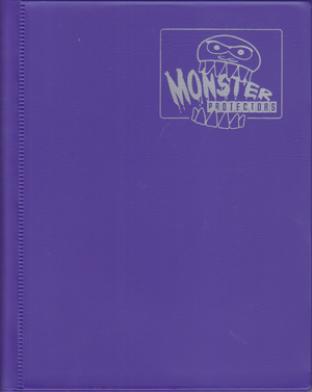 4-Pocket Monster Binder - Purple