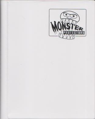 4-Pocket Monster Binder - White