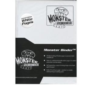 9 Pocket Monster Binder - White - With NEW White Pages