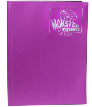 9-Pocket Monster Binder - Coral Purple