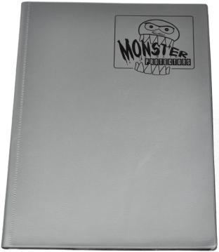9-Pocket Monster Binder - Metallic Silver