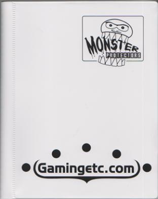 4-Pocket Monster Binder - White with Gamingetc Logo