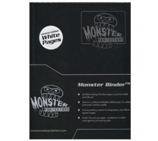 9 Pocket Monster Binder - Black - With NEW White Pages