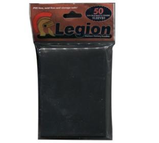 Legion Double Matte Black Standard Sized Sleeves 50 ct