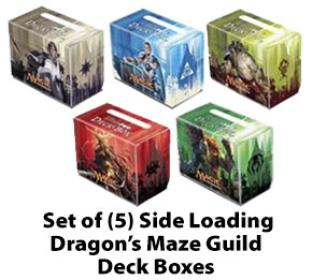 Set of (5) Dragon's Maze Guild Side Loading Deck Boxes